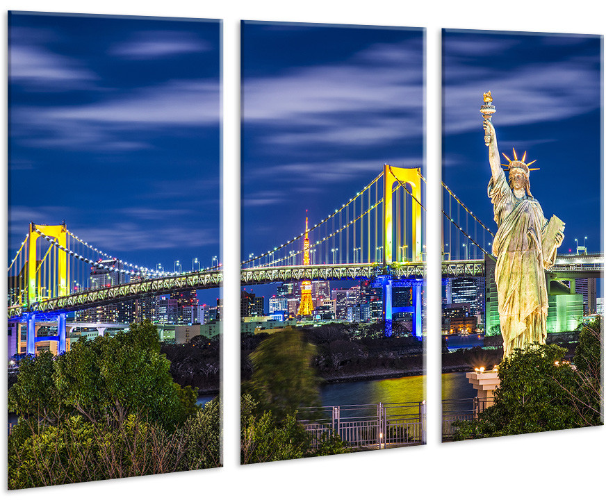 Модульная картина на холсте 96х70см Мост