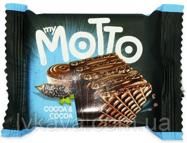 Вафлі My Motto cocoa & cocoa , 34 гр, фото 2
