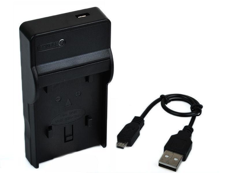 Зарядное устройство с micro USB аналог для Panasonic (акб CGA-S005E CGA-S005 DMW-BCC12 NP-70 BP-DC4 D-LI106