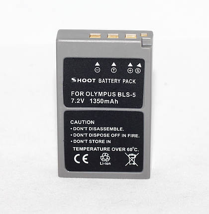 Аккумулятор для фотоаппаратов OLYMPUS - BLS-5 (PS-BLS5) - анлог на 1350 ma, фото 2