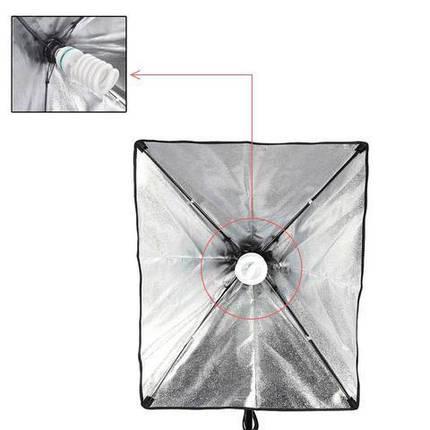 Софтбокс, рассеиватель, диффузор (Softbox) 40 х 40 см для постоянного флуоресцентного света - с патроном E27, фото 2
