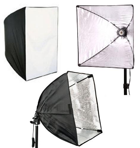 Софтбокс, рассеиватель, диффузор (Softbox) 50 х 50 см для постоянного флуоресцентного света - с патроном E27