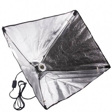 Софтбокс, рассеиватель, диффузор (Softbox) 50 х 50 см для постоянного флуоресцентного света - с патроном E27, фото 2