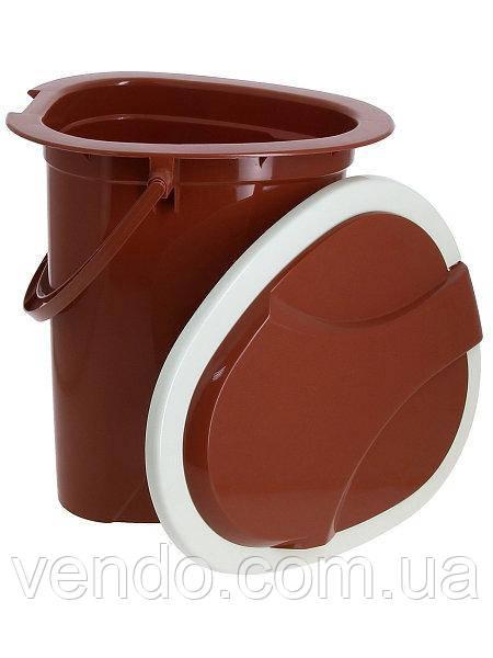 Ведро-туалет с крышкой и сидением Адис
