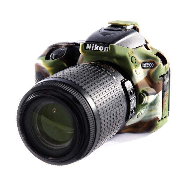 Защитный силиконовый чехол для фотоаппаратов Nikon D5500, D5600  - камуфляж