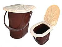 Ведро-туалет с крышкой и сидением Консенсус
