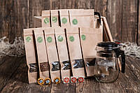 """Ящик 4MAN """"Чайный эстет"""". Мужской подарочный набор чая. Чай в подарочной упаковке - деревянный ящик с ломом"""