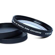 "Широкоугольная насадка - оптический конвертер, ""wide-angle"" - ZOMEI - 72 мм - 0.45x, фото 3"