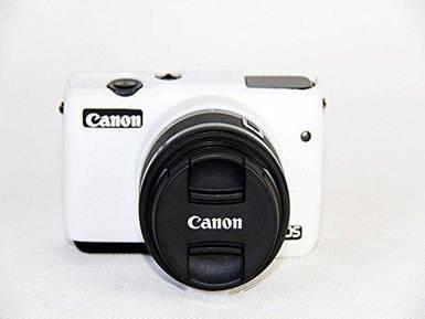 Захисний силіконовий чохол для фотоапаратів CANON EOS M10 білий