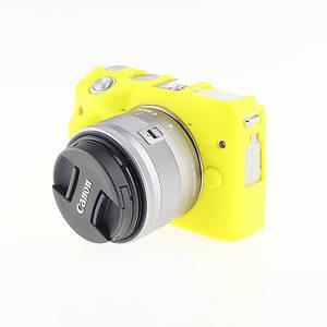Захисний силіконовий чохол для фотоапаратів CANON EOS M3 - жовтий