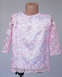 Красивая блузка для девочки в розовом цвете