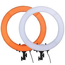 """Кольцевой LED осветитель ZOMEI (18"""") в комплекте со стойкой - для портретной, бьюти и селфи съемки, фото 3"""