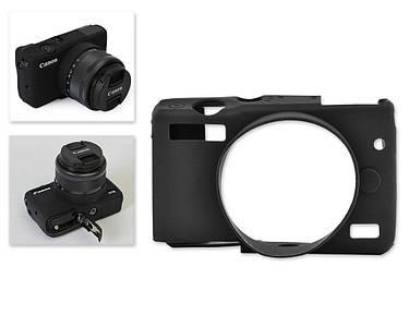 Захисний силіконовий чохол для фотоапаратів CANON EOS M10 - чорний