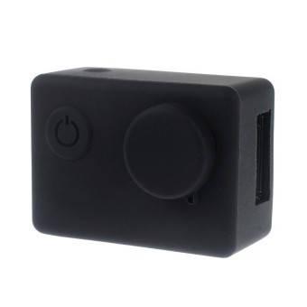Силиконовый чехол, футляр с крышкой на объектив экшн камер SJCAM SJ4000 SJ5000 SJ5000X -черный (код № XTGP395), фото 2