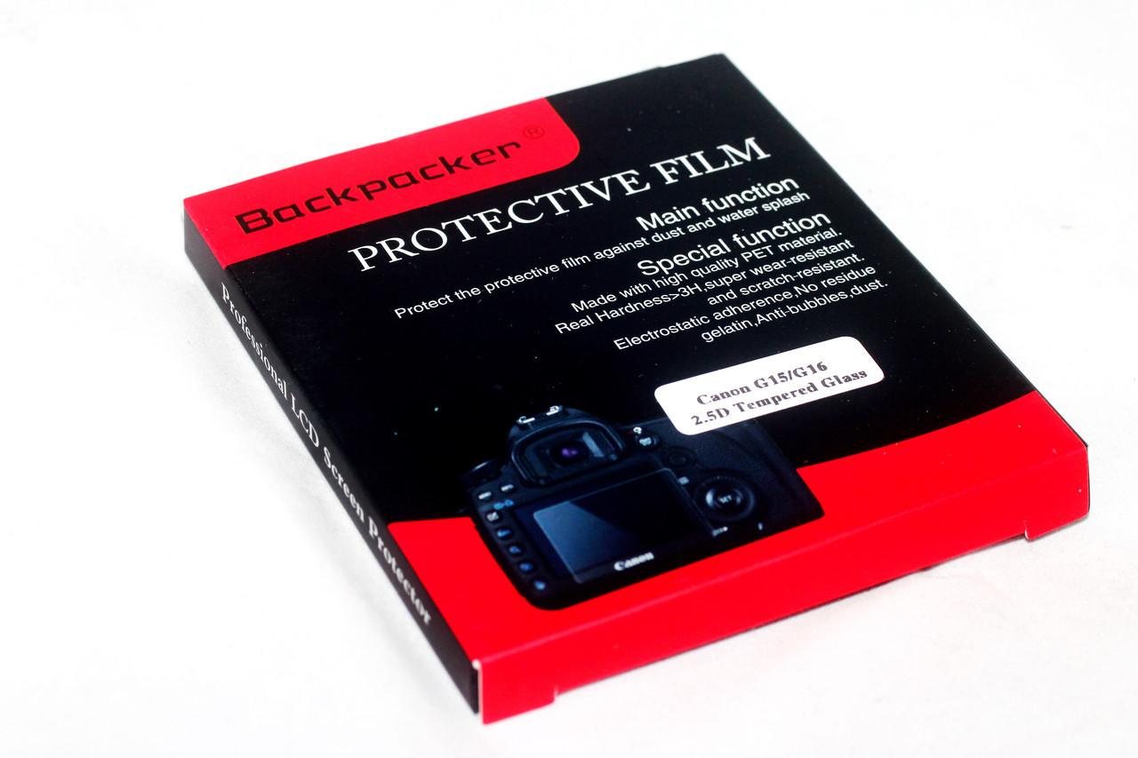 Защита LCD экрана Backpacker для CANON PowerShot G16, SX720, IXUS 230 HS - закаленное стекло