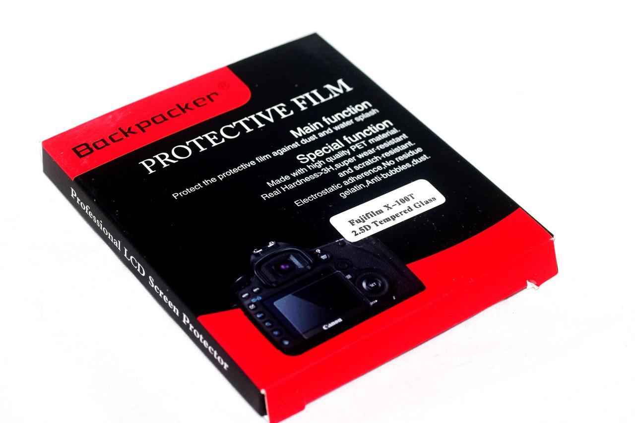 Защита LCD экрана Backpacker для Fujifilm X100T, X100F, X-E2, X-E2s - закаленное стекло