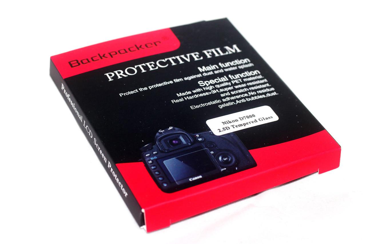 Защита LCD экрана Backpacker для Nikon D90, D300, D700, D7000 - закаленное стекло
