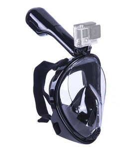 Маска SHOOT для подводного плавания (сноркелинга) с креплением для экшн камер - черная (S-M) код № XTGP280