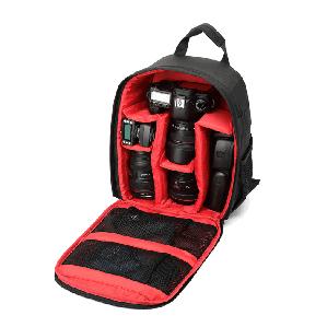 Фоторюкзак, рюкзак для фотоаппаратов Tigernu - внутри красный