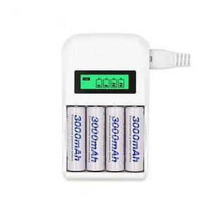 Інтелектуальний зарядний пристрій C907W з LCD дисплеєм для акумуляторів типу AA і AAA