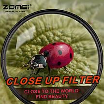 Светофильтр ZOMEI - макролинза CLOSE UP +10 72 mm, фото 2