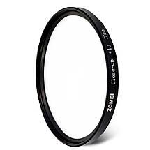 Светофильтр ZOMEI - макролинза CLOSE UP +10 77 mm, фото 2