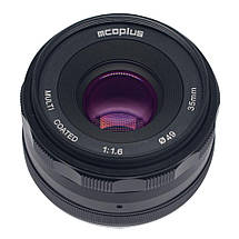 Объектив Mcoplus 35 mm F/1.6 MC для Sony (E-mount), фото 2