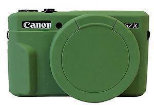 Захисний силіконовий чохол з кришкою для фотоапаратів CANON G7X Mark II - зелений