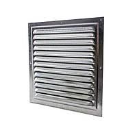 Решетка вентиляц. оцинкованная с сеткой 150х150, Сталь 1515МЦ