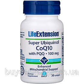 Life Extension, Супер убихинол - коэнзим Q10 с BioPQQ, 100 мг, 30 желатиновых капсул