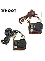Кожаный футляр, чехол Shoot для камер GoPro Hero 5, 6, 7 (код XTGP391) - коричневый, фото 2
