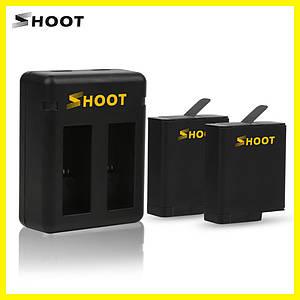 Комплект от SHOOT - 2 шт аккумулятора AHDBT-501 (AABAT-001) + зарядное GoPro Hero 5, 6 (код XTGP374)