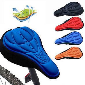 Велосипедный чехол силиконовый, накладка на седло подушка чохол на сідло седушку.