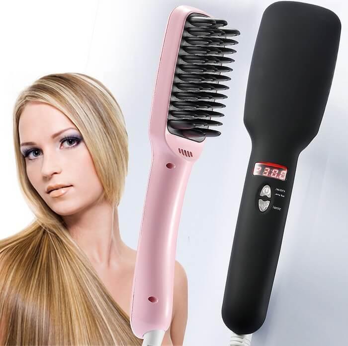 Расческа выпрямитель для волос PTC Heating 2 in 1, расческа для выпрямленияST-2IN15 температурных режимов