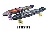 Пенні борд Peny ALFA, дитячий скейт, світяться колеса, принт