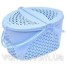 Корзина для пикника/животных SENYAYLA (48,5x37x28 см) голубая