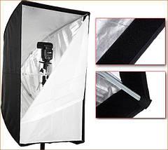 Софтбокс (softbox), рассеиватель зонтичного типа 50 х 70 см, фото 3