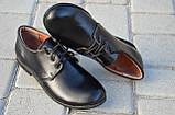 Туфли для мальчика кожаные на шнуровке 732101, фото 2