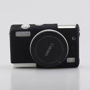 Захисний силіконовий чохол для фотоапаратів CANON EOS M100 - чорний