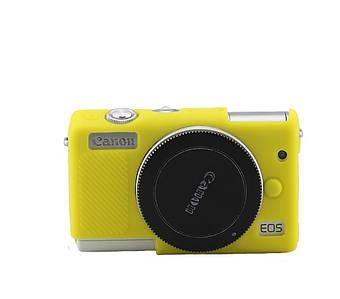 Захисний силіконовий чохол для фотоапаратів CANON EOS M100 - жовтий
