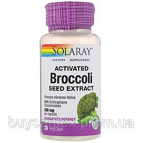 Solaray, Активированный экстракт семян брокколи, 30 растительных капсул