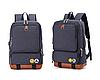 Рюкзак 20 л Casual Travel College для учебы и путешествий c 15,6-дюймовым ноутбуком Dark Blue (синий) с USB, фото 2