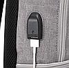 Рюкзак 20 л Casual Travel College для учебы и путешествий c 15,6-дюймовым ноутбуком Dark Blue (синий) с USB, фото 3