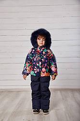 Комплект для девочки зимний «Девочка», принт-3