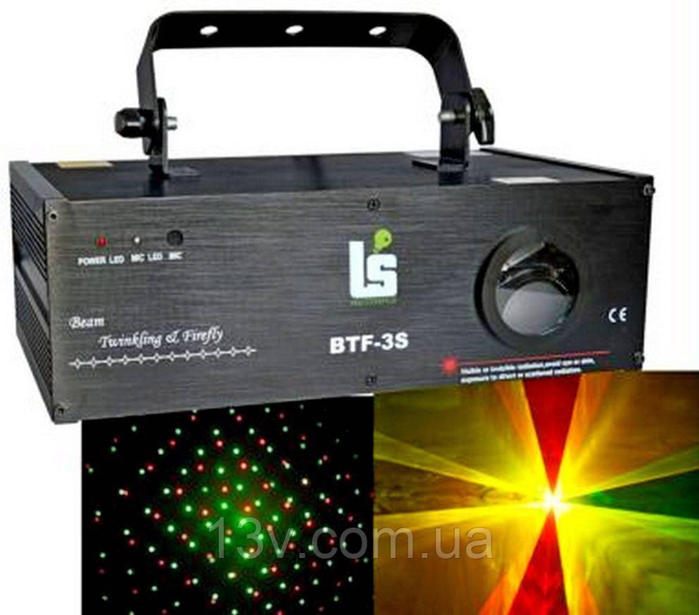 BTF-3S Лазер червоно-зелено-жовтий 160мВт