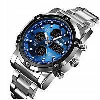 Мужские наручные часы Skmei 1389 Silver Black Blue Спортивные, фото 1