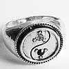 """Кольцо перстень """"Инь Янь"""" с кристаллами. Размер 19."""
