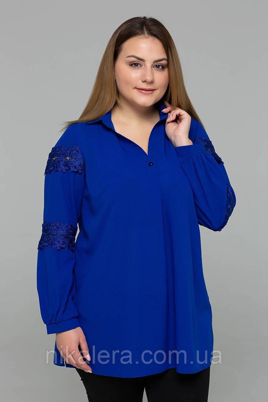 Нарядная блуза с кружевом рр 54