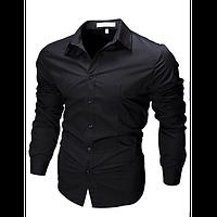 Рубашка приталенного кроя (Черный)