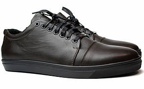 Кожаные кроссовки мужские кеды коричневые весенняя обувь демисезонная Rosso Avangard Gushe Brown